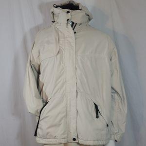 Men Eddie bauer hunt winter jacket beige color